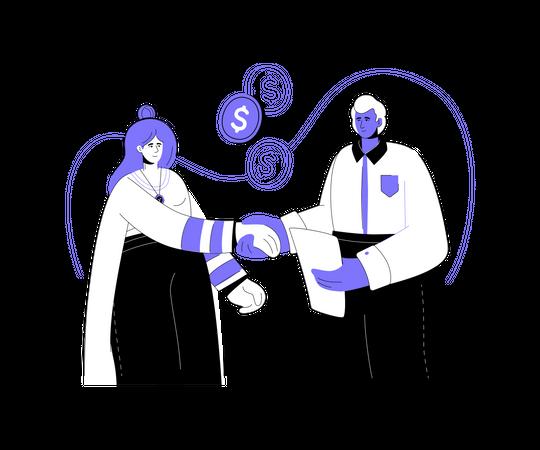 Financial relations Illustration
