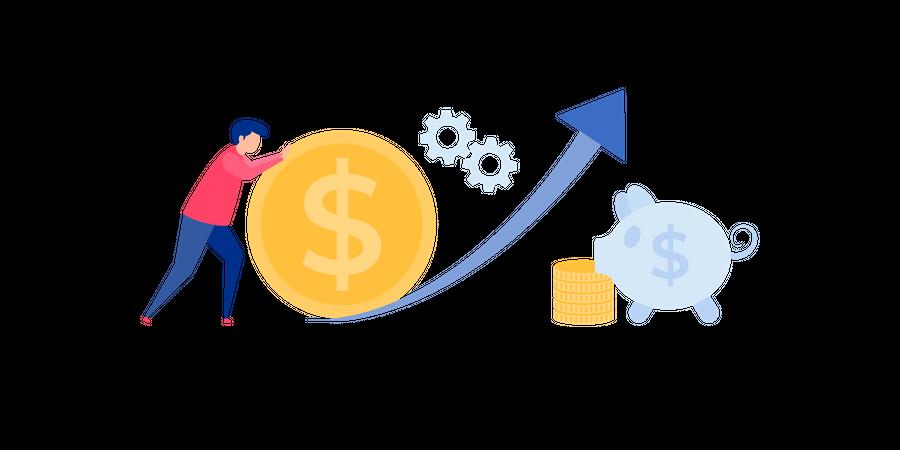Financial Savings Illustration