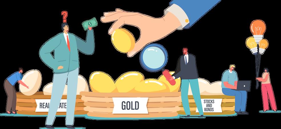 Financial Success and Balance Illustration