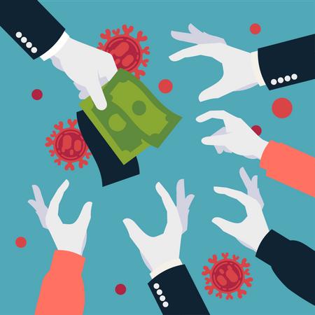 Financial support during coronavirus crisis Illustration