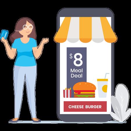 Find your favorites wages for meal Illustration