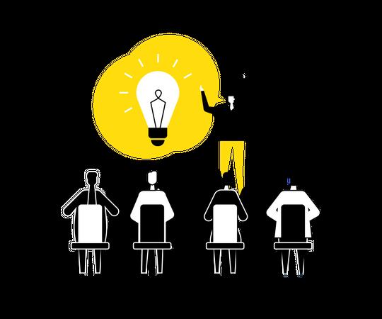 Finding business solution Illustration