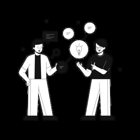 Finding idea or solution Illustration
