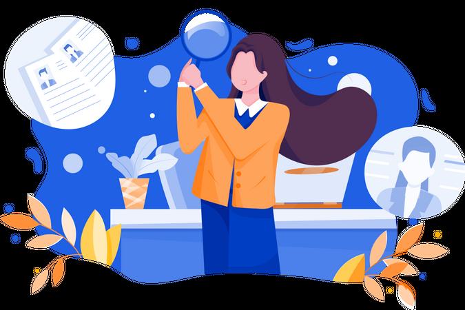 Finding recruitment Illustration