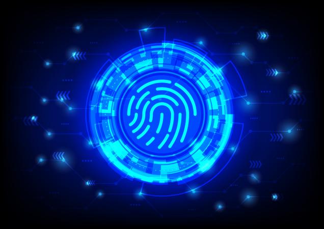 Fingerprint scanning Illustration