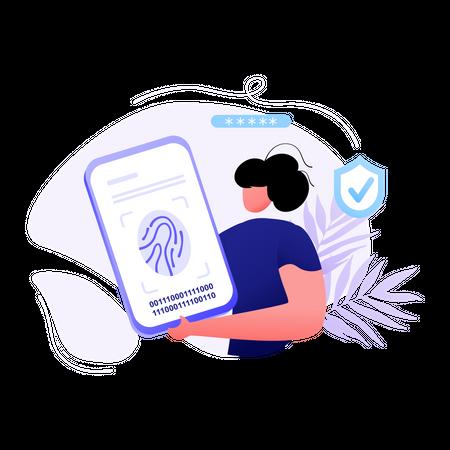 Fingerprint security Illustration
