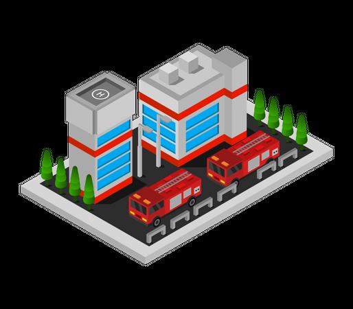 Fire brigade Illustration