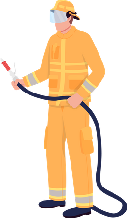 Firefighter Illustration