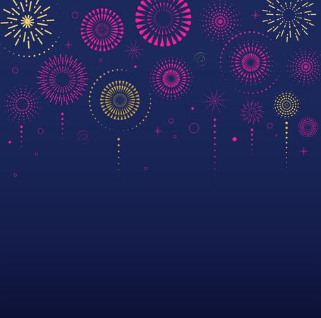 Fireworks and celebration Illustration