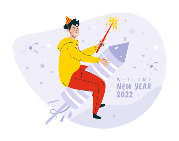 Fireworks for new year party Illustration