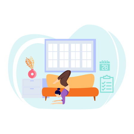Fitness at home Illustration