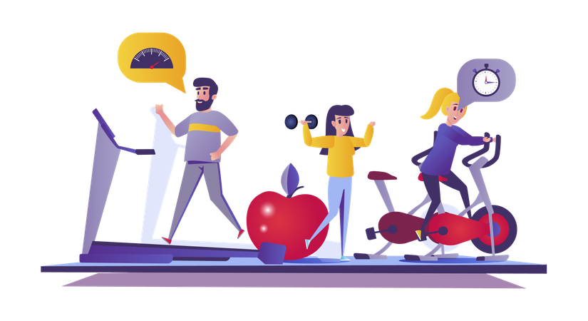 Fitness gym Illustration