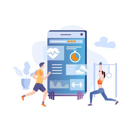 Fitness tracking application Illustration