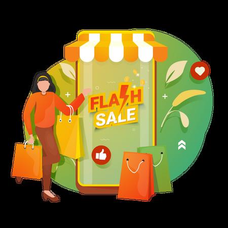 Flash Sale Illustration