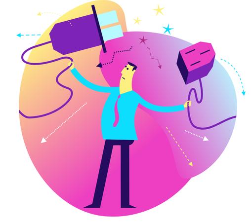 Flat Design Illustration: 404 concept Illustration