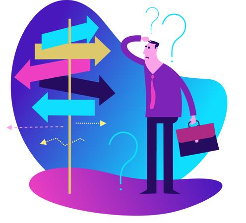 Flat Design Illustration: Decision making Illustration