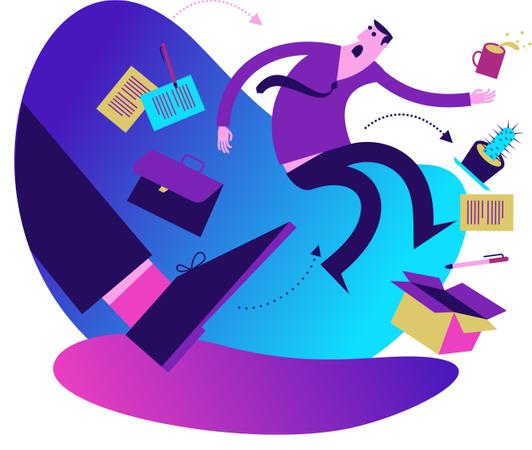 Flat Design Illustration: Dismissal Illustration