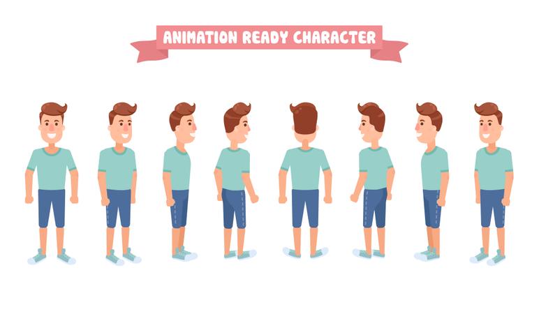 Flat Guy Character Illustration