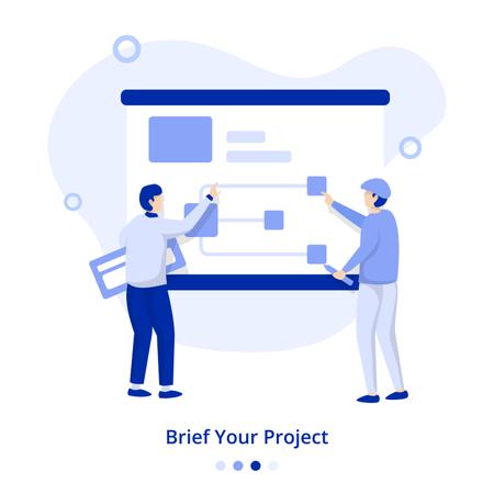 Flat Illustration Brief Your Project Illustration