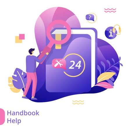 Flat Illustration Handbook Help Illustration