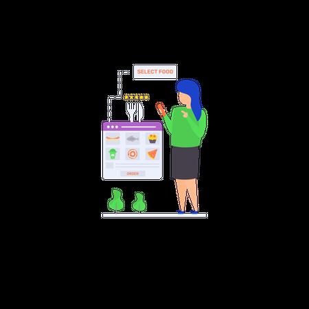 Flat illustration of choose your meal Illustration