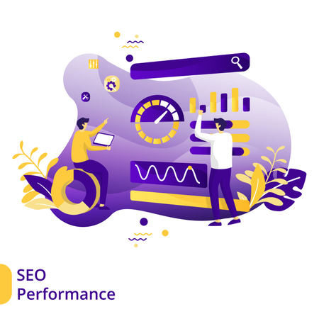 Flat Illustration of SEO Performance Illustration