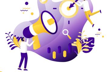 Flat Illustration Set Search Engine Optimization Illustration Pack