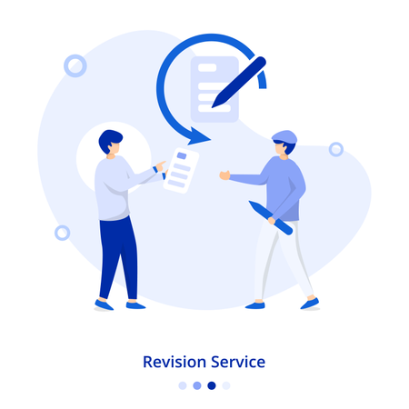 Flat Illustration Revision Service Illustration