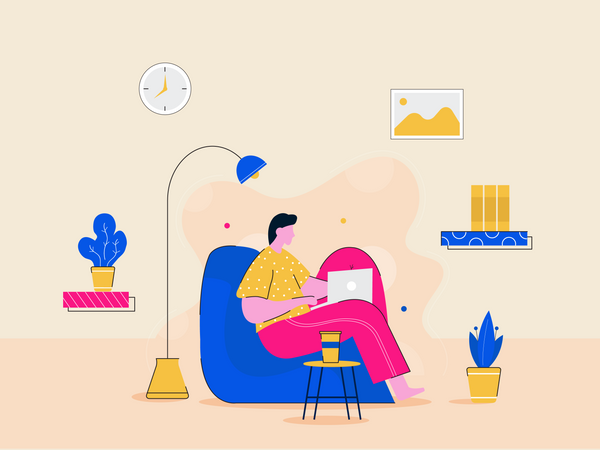 Flat study in home-01-1 Illustration