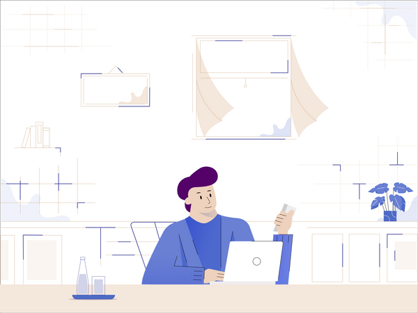 Flat work in home-01-1 Illustration