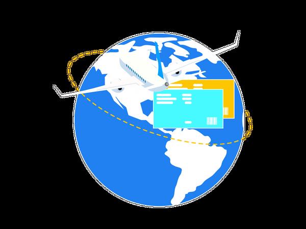 Flight booking Illustration