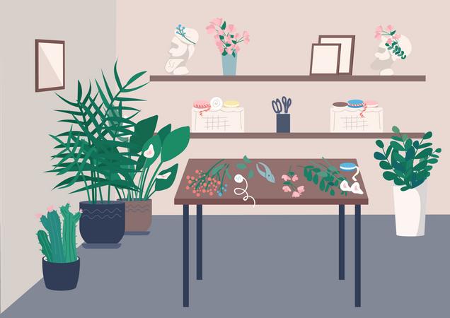 Florist studio Illustration