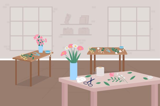 Floristry workshop Illustration