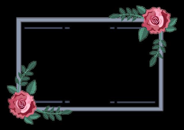 Flower Frame Illustration