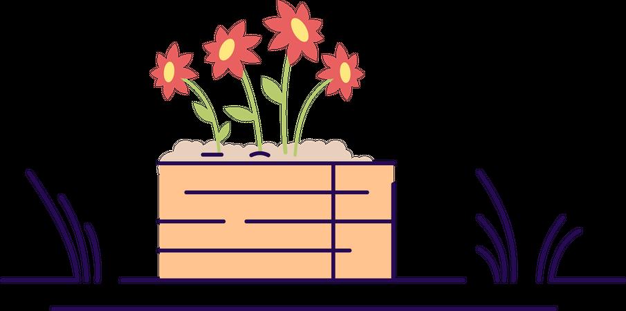 Flowerbed Illustration