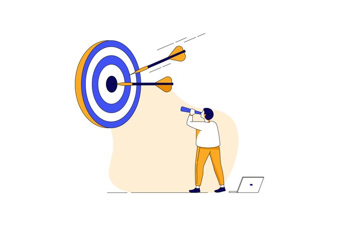 Focusing on target Illustration