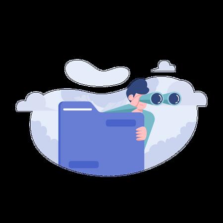 Folder Is Empty Illustration