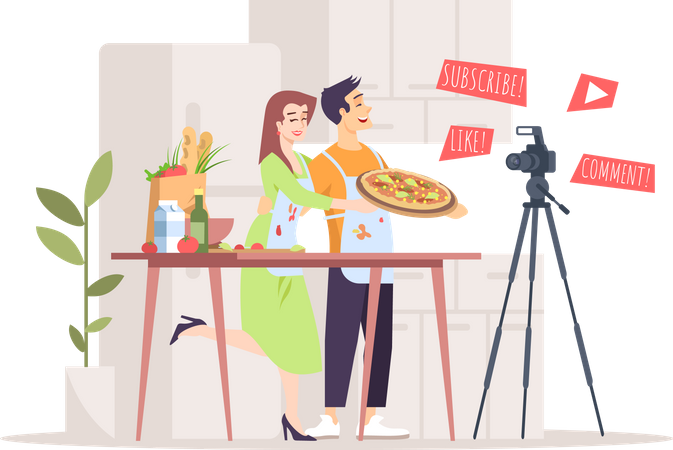 Food and cooking blog Illustration