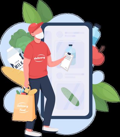Food delivery man Illustration