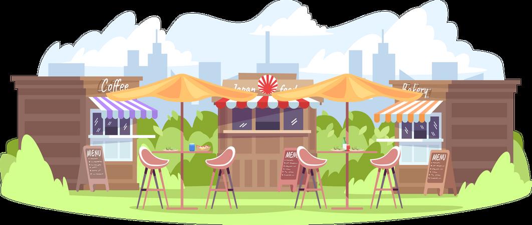 Food fest Illustration