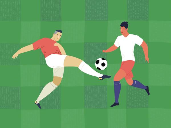 Football Match Illustration