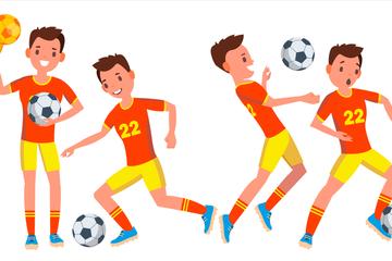 Soccer Player Illustration Pack