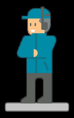 Football referee Illustration