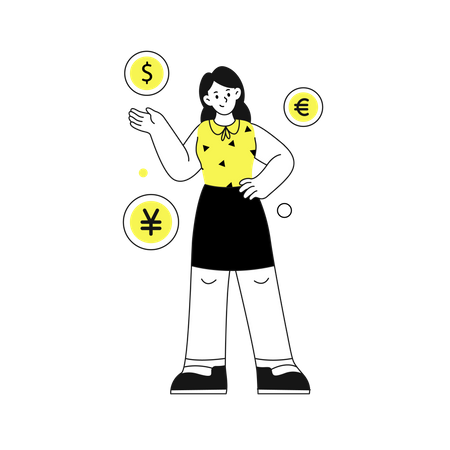 Foreign Currency Exchange Illustration