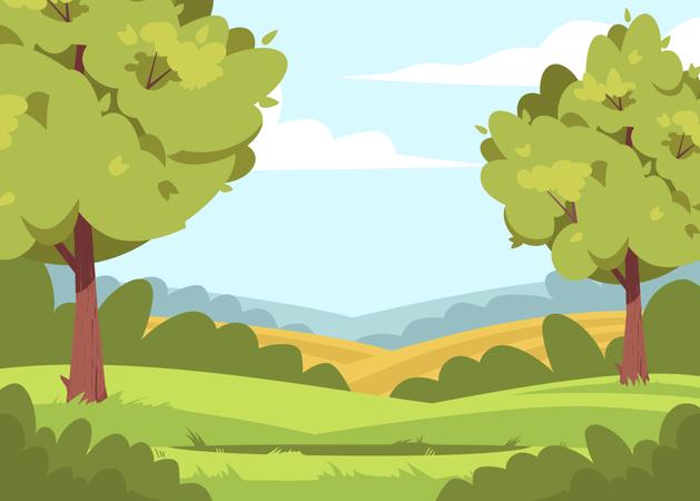 Forest Creek Illustration