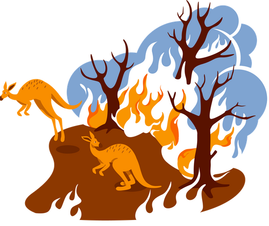 Forest fire Illustration