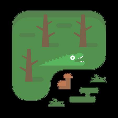 Forest Lake Illustration
