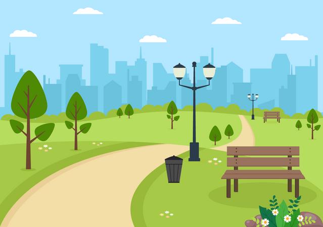 Forest Park Illustration