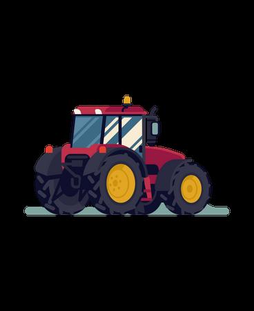 Four wheel drive tractor Illustration