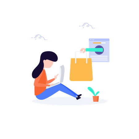 Free home delivery concept Illustration
